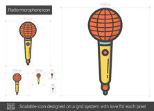 Radio microphone line icon. Royalty Free Stock Image