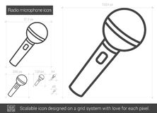 Radio microphone line icon. Royalty Free Stock Photos