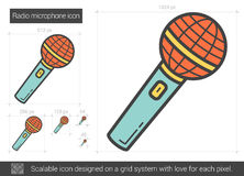 Radio microphone line icon. Stock Images