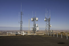 Radio and Microwave tower Stock Image