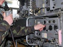 Radio militar Fotos de archivo libres de regalías