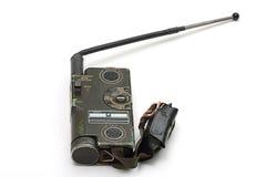 Radio militar vieja portable Imágenes de archivo libres de regalías