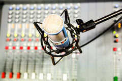 Radio mixer panel Royalty Free Stock Photography