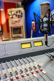 Radio mixer panel Royalty Free Stock Image