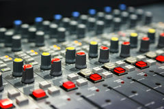 Radio mixer panel Stock Image