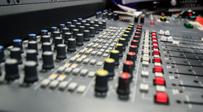 Radio mixer panel Stock Images