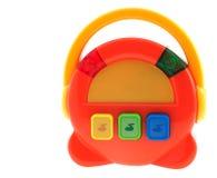 Radio multicolore de jouet musical de chéri Images libres de droits