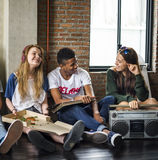 Radio Music Friends Unity Style Teens Casual Concept Royalty Free Stock Image