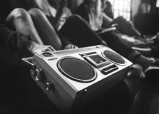 Radio Music Friends Unity Style Teens Casual Concept Royalty Free Stock Photography