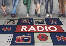 Radio Music Listening Rhythm Signal Concept Royalty Free Stock Images