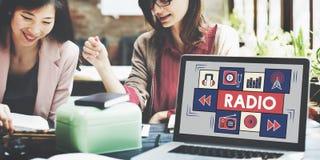 Radio Music Listening Rhythm Signal Concept Royalty Free Stock Images