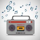 Radio muzikaal festivaletiket royalty-vrije illustratie