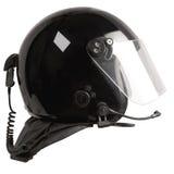 radio noire de casque r3fléchissante Photographie stock libre de droits
