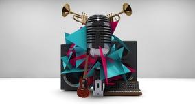 Radio och musik Royaltyfri Bild
