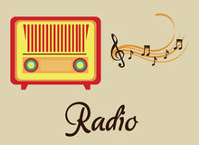 Radio old design Stock Images