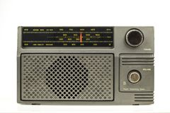 Radio op witte achtergrond royalty-vrije stock afbeelding