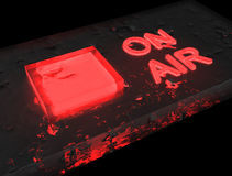 Radio på röd luft - glass grund Royaltyfria Foton