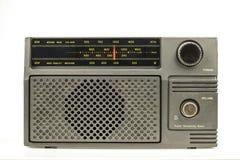 Radio på vit bakgrund royaltyfri bild