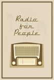 Radio for people Royalty Free Stock Photo