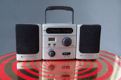 Radio portative de rétro style de sableuse de ghetto Photographie stock