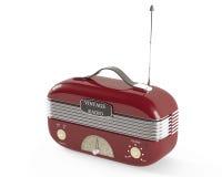 Radio portative de vintage démodé. Photos stock