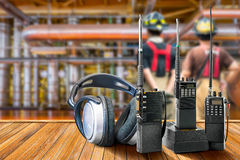 Radio portative industrielle Photos libres de droits