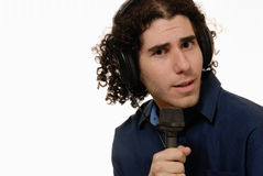 Radio presentator/DJ Royalty-vrije Stock Afbeeldingen