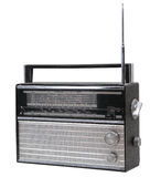 Radio receiver. Old radio receiver isolated with metal parts Royalty Free Stock Photography