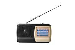 Radio Receiver. Isolated on the white Royalty Free Stock Photo