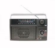 Radio receiver. Isolated old fashion radio receiver Stock Photos