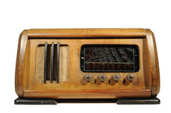 Radio receiver,isolated on white Royalty Free Stock Photos