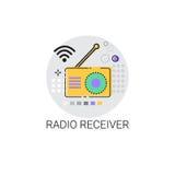 Radio Receiver Telecommunications Device Icon Stock Photo