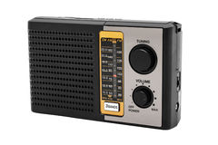 Radio receiver on white background Stock Photo