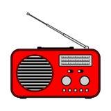 Radio receiver on white background stock image