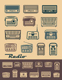 Radio receivers Stock Images
