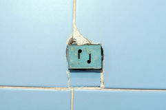 Radio receiving station. The socket for radio on a wall. Royalty Free Stock Image