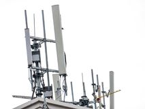 Radio reception antenna Installed on a high roof. Abstract Isola Royalty Free Stock Photos