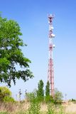 Radio Relay Link, Mobile Base Station. Royalty Free Stock Photo