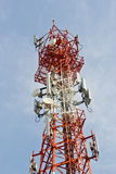 Radio Relay Link, Mobile Base Station. Stock Photo