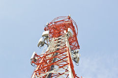 Radio Relay Link, Mobile Base Station. Stock Images