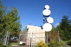 Radio relay station Royalty Free Stock Photos