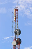 Radio relay station. On blue sky Stock Photography