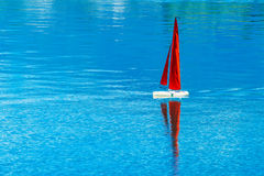 Radio remote control rc sailing yacht boat simulation model Stock Images