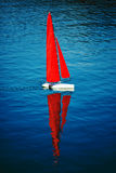 Radio remote control rc sailing yacht boat simulation model Royalty Free Stock Images