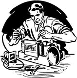 Radio Repairman 1 Stock Photography