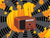 Radio retra b libre illustration