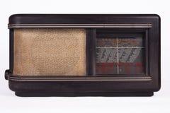 Radio retra de madera vieja del tubo de la tabla Imagenes de archivo