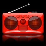 Radio Retro. Retro radio illustration isolated on black background Stock Image