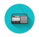 Radio retro stock illustratie