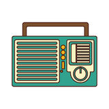 Radio retro audio device Royalty Free Stock Images